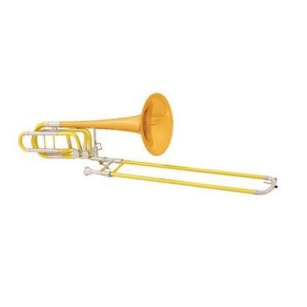 Conn Conn 112HSP Professional Bb/F/Gb Bass Trombone, Silver Plated