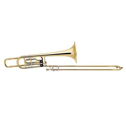 Bach 50B2OG Stradivarius Profess Bb/F/Eb Bass Trombone Open Wrap/Gold Brass Bell