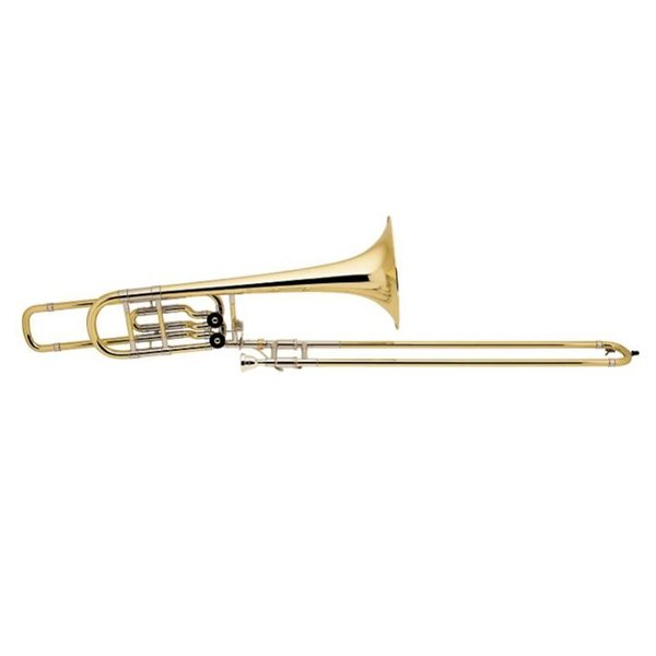 Bach Bach 50B2OG Stradivarius Profess Bb/F/Eb Bass Trombone Open Wrap/Gold Brass Bell