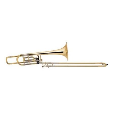 Bach 50B2G Stradivarius Professional Bb/F/Eb Bass Trombone, Gold Brass Bell