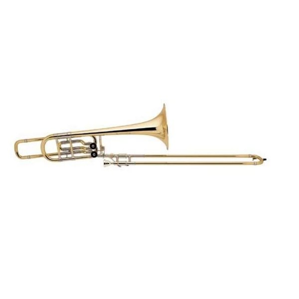 Bach Bach 50B2G Stradivarius Professional Bb/F/Eb Bass Trombone, Gold Brass Bell