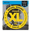 D'Addario ESXL125 Nickel Wound Elec Guitar Strings, Super Light Top/ Reg Bottom, Dbl Ball End, 9-46