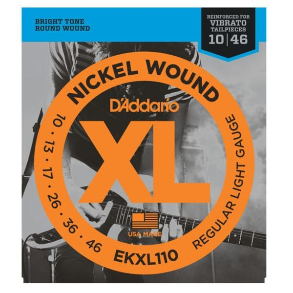 D'Addario D'Addario EKXL110 Nickel Wound Electric Strings Regular Light, Reinforced, 10-46