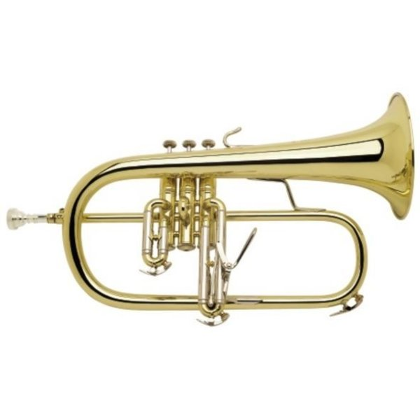 Bach Bach 183SG Stradivarius Professional Bb Flugelhorn Silver Plated Gold Brass Bell