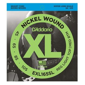 D'Addario D'Addario EXL165SL Nickel Wound Bass Custom Light, 45-105, Super Long Scale