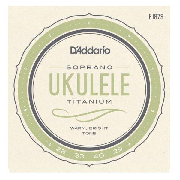 D'Addario D'Addario EJ87S Titanium Ukulele Strings, Soprano