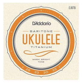 D'Addario D'Addario EJ87B Titanium Ukulele Strings, Baritone