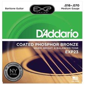 D'Addario D'Addario EXP23 EXP Coated Baritone Guitar Strings, 16-70