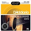 D'Addario EXP14 Coated 80/20 Bronze Acoustic, Lt Top/Med Bottom/Bluegrass, 12-56