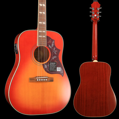 Epiphone EEHBFCNH1 Hummingbird Pro Acoustic Electric, Faded Cherry, Nickel Hardware S/N 19022307194 5 lbs, 1.2 oz