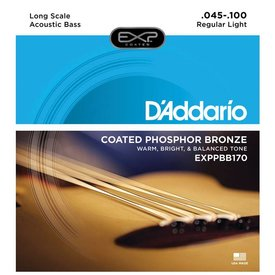 D'Addario D'Addario EXPPBB170 Phosphor Bronze Coated Acoust Bass Strings Long Scale 45-100