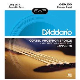 D'Addario D'Addario EXPPBB170 Phosphor Bronze Coated Acoust Bass Strings Long Scale 45-100