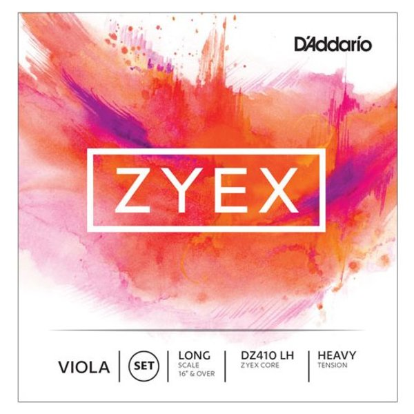 D'Addario Orchestral D'Addario Zyex Viola String Set, Long Scale, Heavy Tension