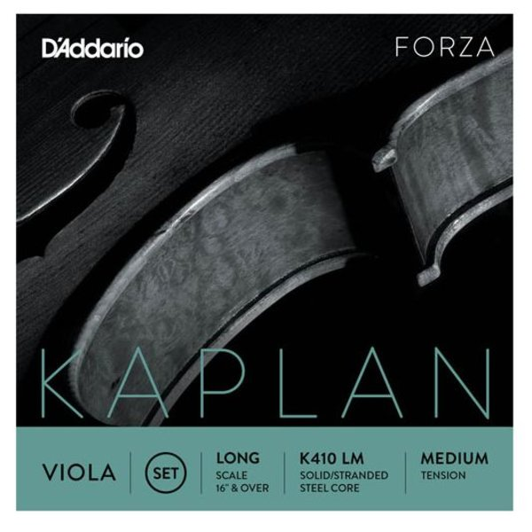 D'Addario Orchestral D'Addario Kaplan Viola String Set, Long Scale, Medium Tension