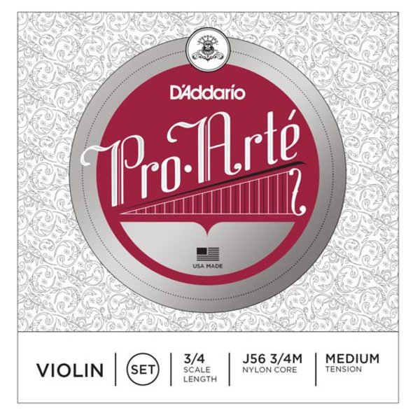D'Addario Orchestral D'Addario Pro-Arte Violin String Set, 3/4 Scale, Medium Tension
