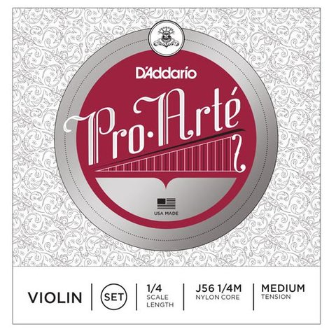 D'Addario Pro-Arte Violin String Set, 1/4 Scale, Medium Tension