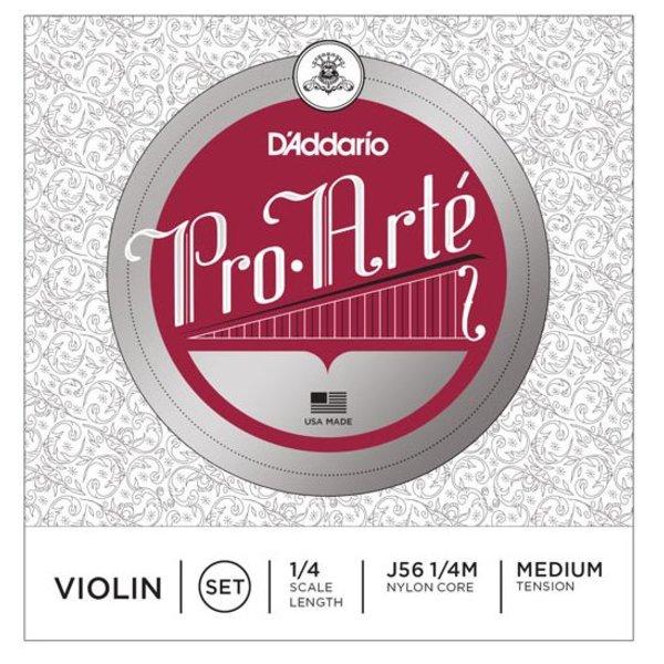 D'Addario Orchestral D'Addario Pro-Arte Violin String Set, 1/4 Scale, Medium Tension
