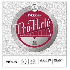 D'Addario Orchestral D'Addario Pro-Arte Violin String Set, 1/16 Scale, Medium Tension