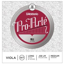 D'Addario Orchestral D'Addario Pro-Arte Viola String Set, Long Scale, Medium Tension