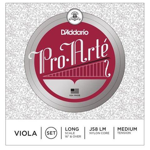 D'Addario Pro-Arte Viola String Set, Long Scale, Medium Tension