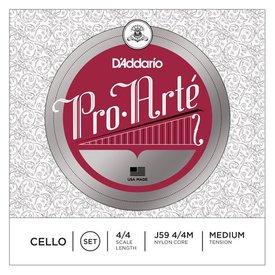 D'Addario Orchestral D'Addario Pro-Arte Cello String Set, 4/4 Scale, Medium Tension