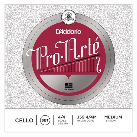 D'Addario Pro-Arte Cello String Set, 4/4 Scale, Medium Tension