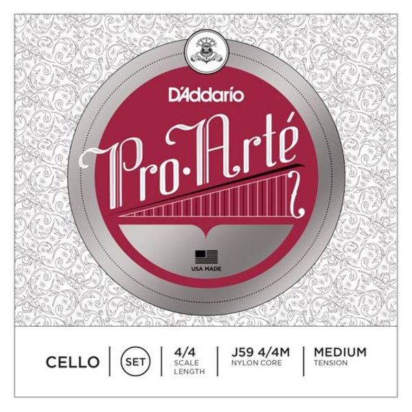 D'Addario Orchestral D'Addario Pro-Arte Cello String Set, 4/4 Scale, Medium Tension