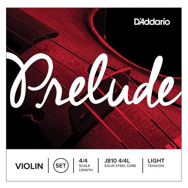 D'Addario Orchestral D'Addario Prelude Violin String Set, 4/4 Scale, Light Tension