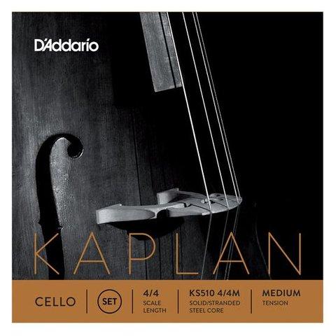 D'Addario Kaplan Cello String Set, 4/4 Scale, Medium Tension