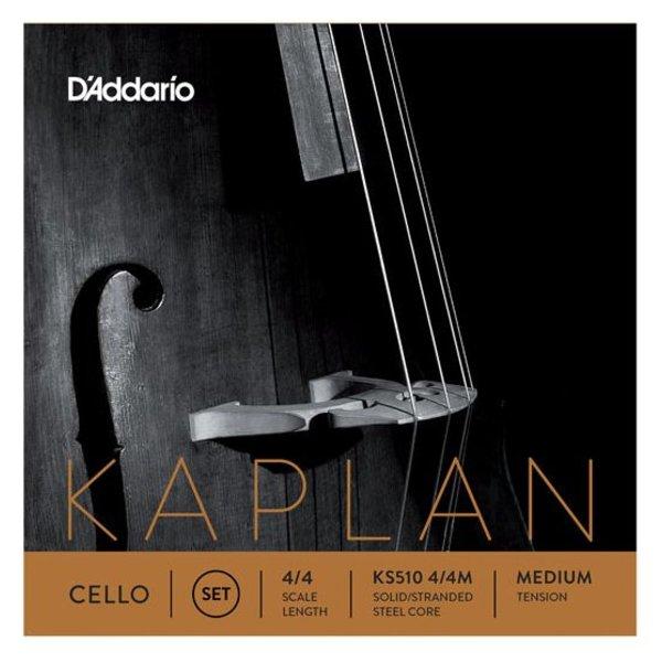 D'Addario Orchestral D'Addario Kaplan Cello String Set, 4/4 Scale, Medium Tension