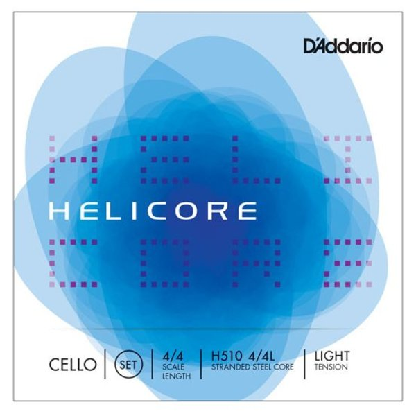 D'Addario Orchestral D'Addario Helicore Cello String Set, 4/4 Scale, Light Tension