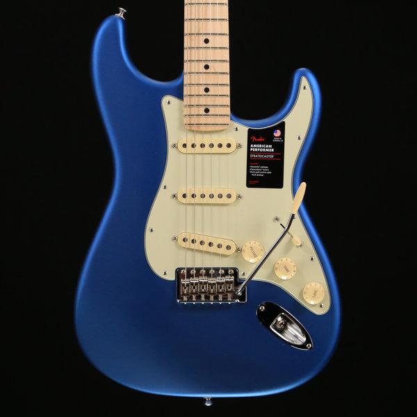 Fender Fender American Performer Strat, Maple Fingerboard, Satin Lake Placid Blue S/N US19038982 7 lbs, 14.6 oz