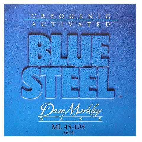 Dean Markley 2674 Blue Steel Electric Bass Strings 45-105 Medium Light