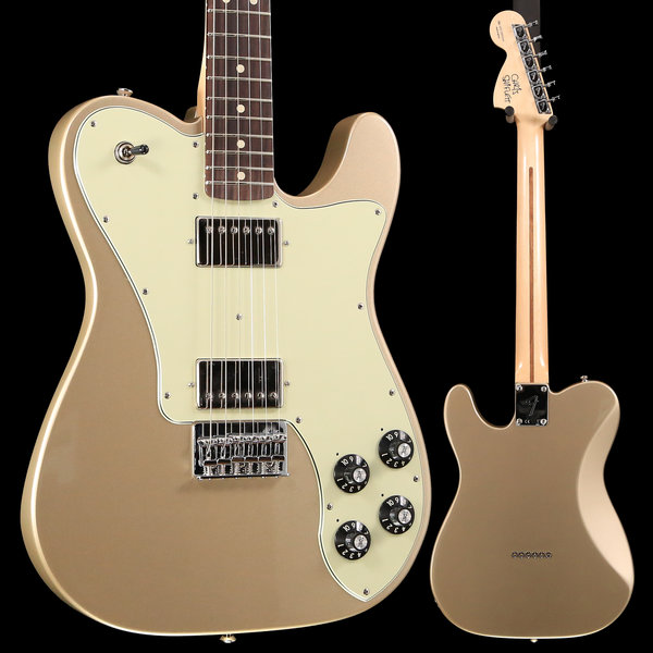 Fender Chris Shiflett Telecaster Deluxe, Rosewood Fingerboard, Shoreline Gold S/N MX19005050 8 lbs, 4.8 oz