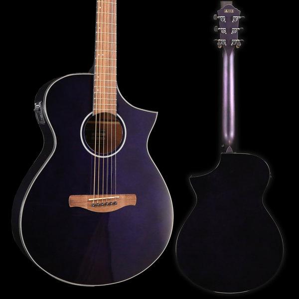 Ibanez Ibanez AEWC10NMP AE Series - Night Metallic Purple Gloss S/N PW190101166 4 lbs, 8.9 oz