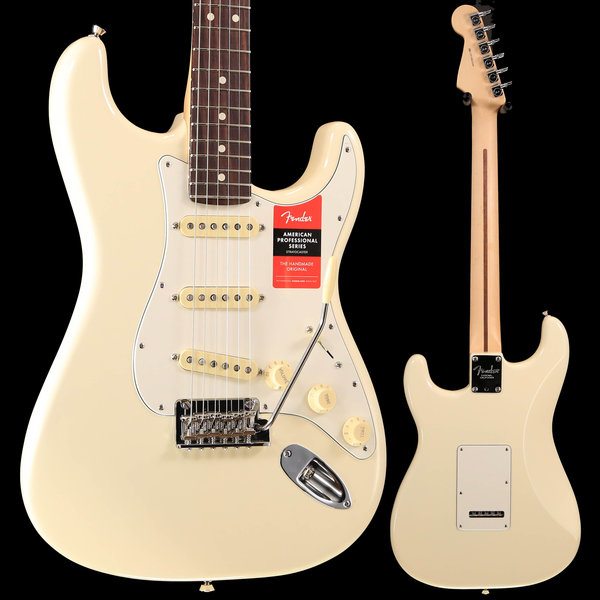 Fender American Pro Stratocaster, Rosewood Fingerboard, Olympic White S/N US19023544 7lbs 14.2oz