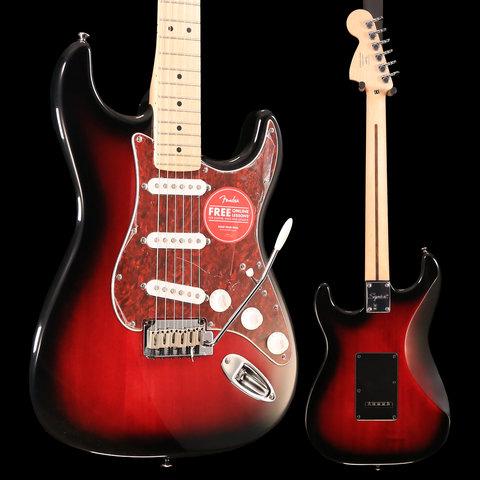 Squier Standard Stratocaster, Maple Fingerboard, Antique Burst S/N ICS19044622 7lbs, 1.6oz