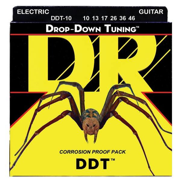 DR Handmade Strings DR DDT-10 Drop-Down Tuning Electric Guitar Strings, 10-46