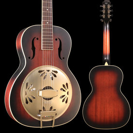 Gretsch Guitars G9240 Alligator Round-Neck, Mahogany Body Biscuit Cone Resonator Guitar, 2-Color Sunburst