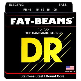 DR Handmade Strings DR Strings FB-45 Medium FATBEAM  - Stainless Steel Bass: 45, 65, 85, 105