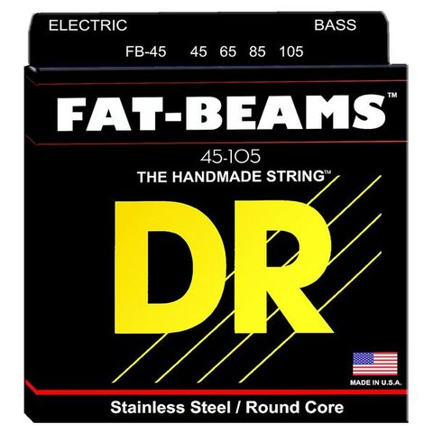 DR Strings FB-45 Medium FATBEAM  - Stainless Steel Bass: 45, 65, 85, 105