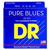 DR Strings PB-45 Medium PURE BLUES  -Quantum-Nickel: 45, 65, 85, 105