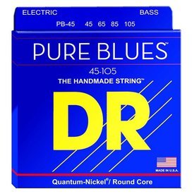 DR Handmade Strings DR Strings PB-45 Medium PURE BLUES  -Quantum-Nickel: 45, 65, 85, 105