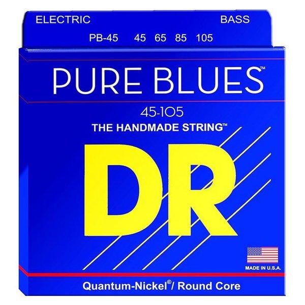 DR Handmade Strings DR Strings PB-45 Medium PURE BLUES  -Quantum-Nickel: 45, 65, 85, 105