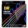 DR Strings NMCE-10 Med Hi-Def NEON Multi-Color: Coated 10, 13, 17, 26, 36, 46