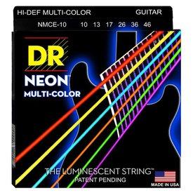 DR Handmade Strings DR Strings NMCE-10 Med Hi-Def NEON Multi-Color: Coated 10, 13, 17, 26, 36, 46