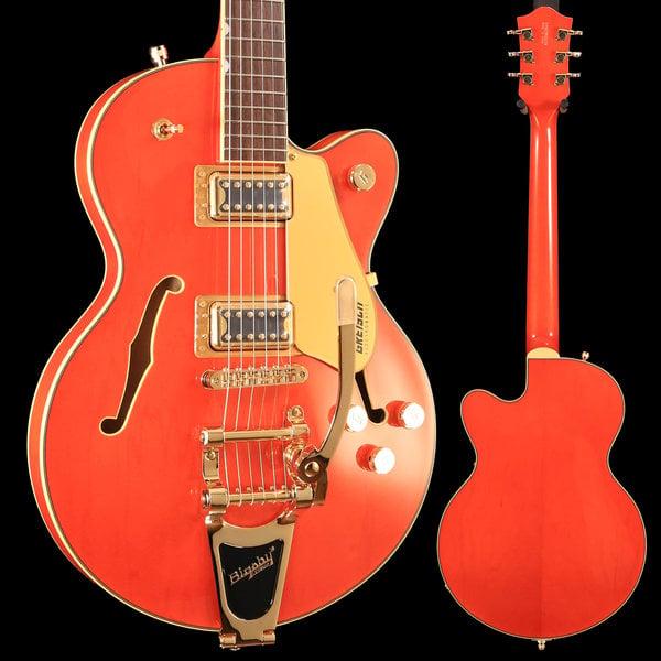Gretsch Guitars Gretsch G5655TG Electromatic Center Block Jr. Single Cut, Laurel FB, Orange Stain S/N CYGC18120275, 7lbs 1oz