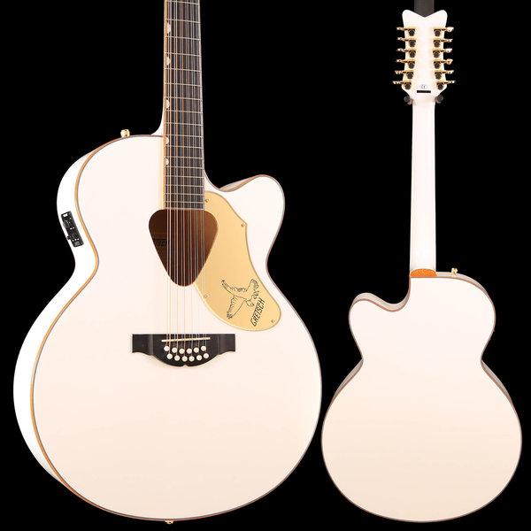 Gretsch Guitars Gretsch G5022CWFE-12 Rancher Falcon Jumbo 12str Cutaway Electric, White S/N IS181200334 6lbs 3.3oz
