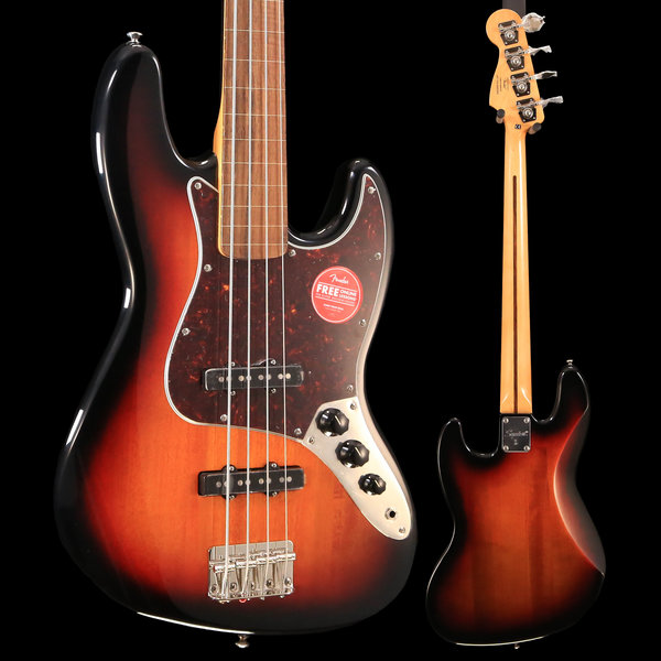 Squier Squier Classic Vibe '60s Jazz Bass Fretless, Laurel Fretboard, 3-Color Sunburst S/N ICS19060959 9lbs