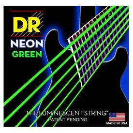 DR Handmade Strings DR Strings NGE-10 Med Hi-Def NEON GREEN: Coated Electric: 10, 13, 17, 26, 36, 46